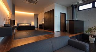一日一組限定のお部屋『UMITSUKI』。素泊まりプラン!最大5名利用可